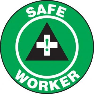 Safe Worker Hard Hat Sticker