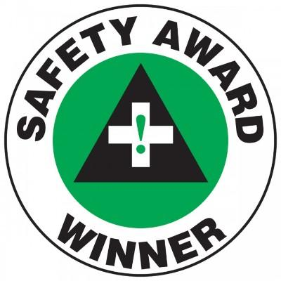 Safety Award Winner Hard Hat Sticker