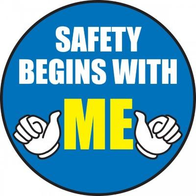 Safety Begins With Me Hard Hat Sticker
