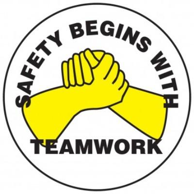 Safety Begins With Teamwork Hard Hat Sticker