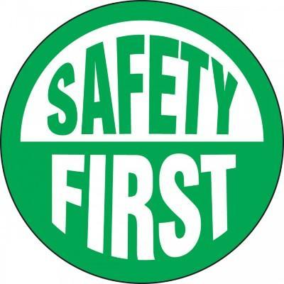 Safety First Hard Hat Sticker
