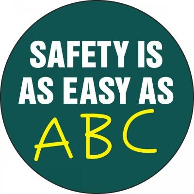 Safety is as Easy as ABC Hard Hat Sticker
