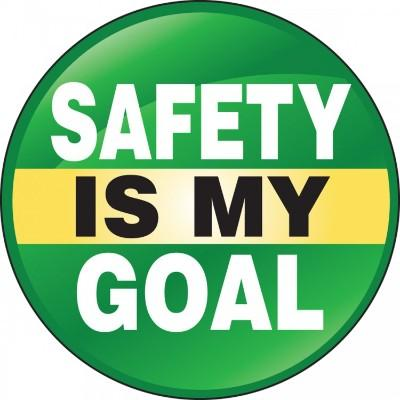Safety is My Goal Hard Hat Sticker