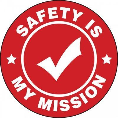 Safety is My Mission Hard Hat Sticker