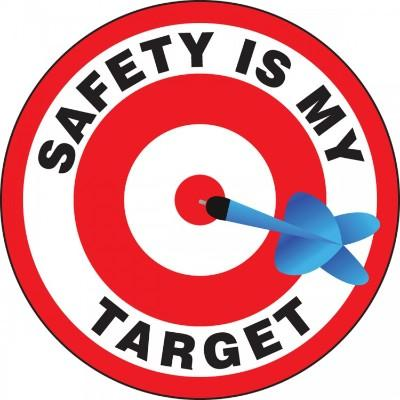 Safety is My Target Hard Hat Sticker