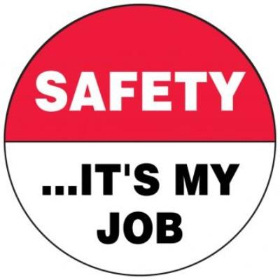 Safety..It's My Job Hard Hat Sticker