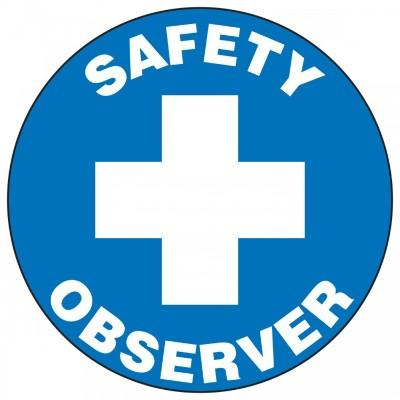 Safety Observer Hard Hat Sticker