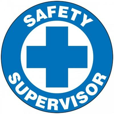 Safety Supervisor Hard Hat Sticker