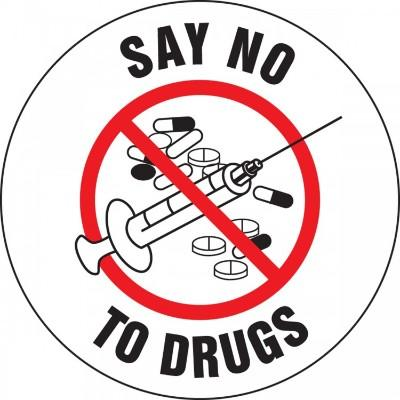 Say No to Drugs Hard Hat Sticker
