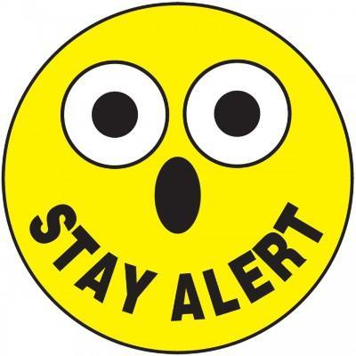 Stay Alert Hard Hat Sticker