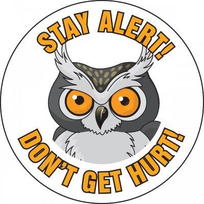Stay Alert Don't Get Hurt Hard Hat Sticker