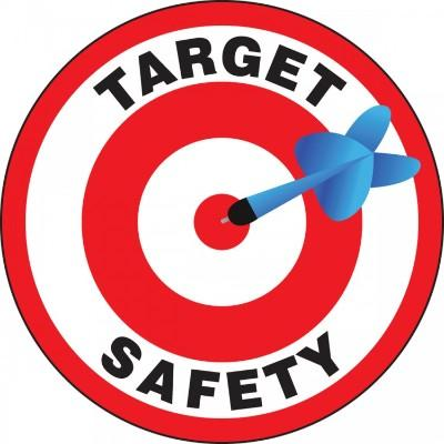 Target Safety Hard Hat Sticker