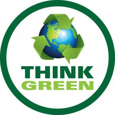 Think Green Hard Hat Sticker