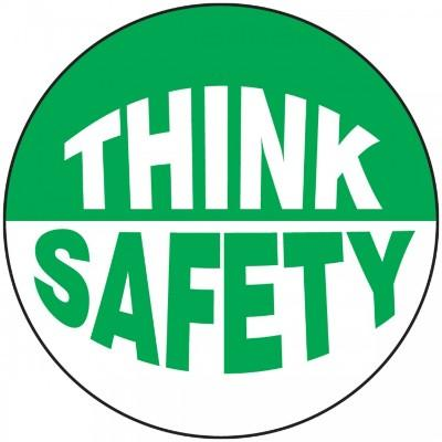 Think Safety Hard Hat Sticker