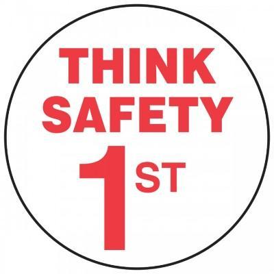 Think Safety 1st Hard Hat Sticker