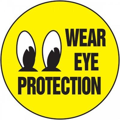 Wear Eye Protection Hard Hat Sticker