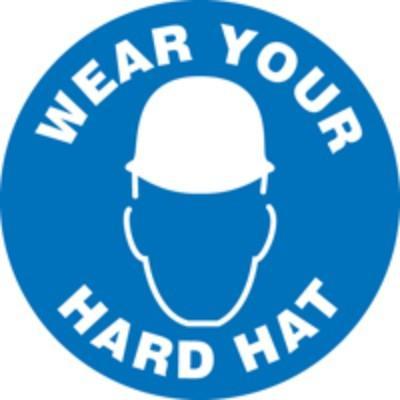 Wear Your Hard Hat Sticker