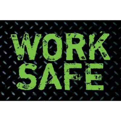 Work Safe Hard Hat Sticker