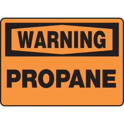 Warning - Propane OSHA HazMat Sign