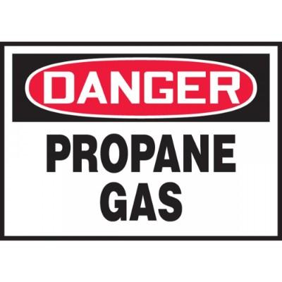 Danger - Propane Gas OSHA HazMat Label