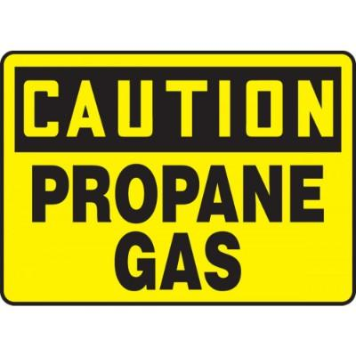 Caution - Propane Gas OSHA HazMat Sign
