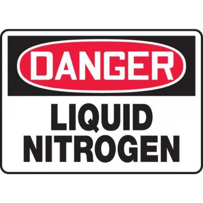 Danger - Liquid Nitrogen OSHA HazMat Sign