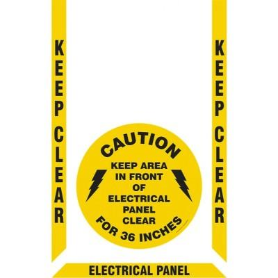 Keep Clear - Electrical Panel Floor Sign Kit