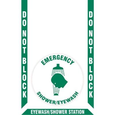 Do Not Block - Emergency Shower/Eyewash Floor Sign Kit