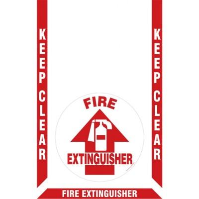 Keep Clear - Fire Extinguisher Floor Sign Kit