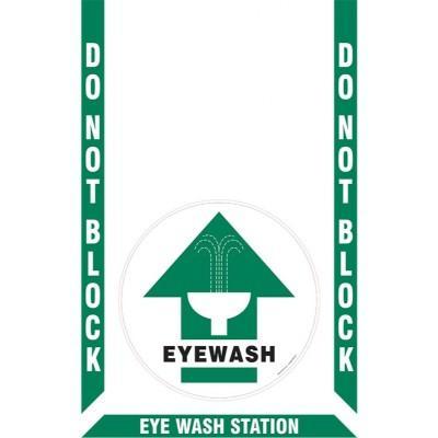 Do Not Block - Eye Wash Station Floor Sign Kit