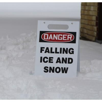 Danger - Falling Ice and Snow OSHA Folding Sign