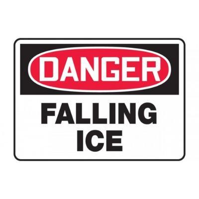 Danger - Falling Ice OSHA Hazard Sign