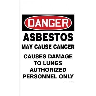 Danger - Asbestos May Cause Cancer OSHA Folding Sign