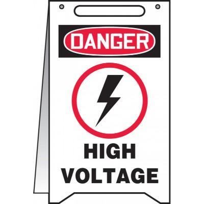 Danger - High Voltage OSHA Folding Sign