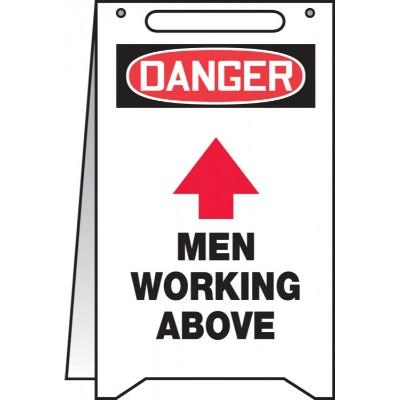 Danger - Men Working Above OSHA Folding Sign