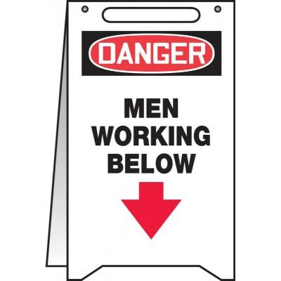 Danger - Men Working Below OSHA Folding Sign