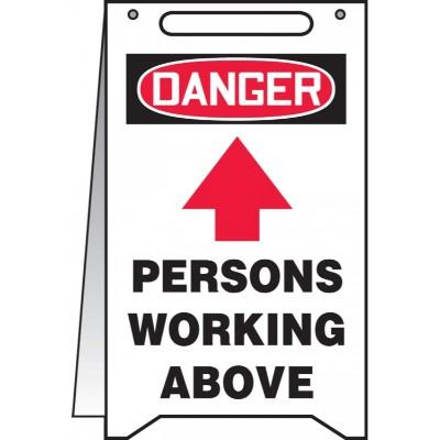 Danger - Persons Working Above OSHA Folding Sign