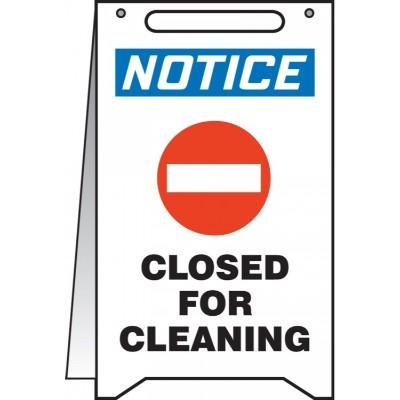 Notice - Closed for Cleaning OSHA Folding Sign