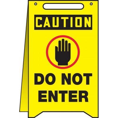 Caution - Do Not Enter OSHA Folding Sign