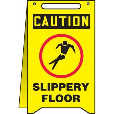 Caution - Slippery Floor OSHA Folding Sign