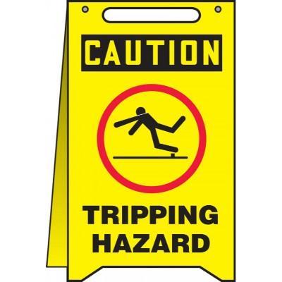 Caution - Tripping Hazard OSHA Folding Sign