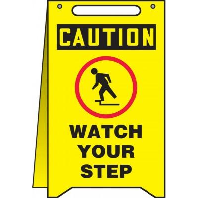 Caution - Watch Your Step OSHA Folding Sign