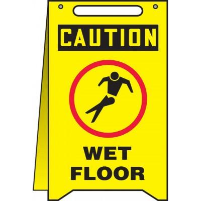 Caution - Wet Floor OSHA Folding Sign