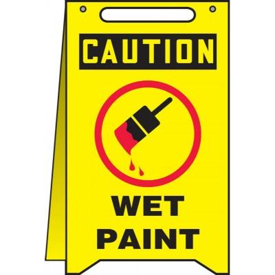 Caution - Wet Paint OSHA Folding Sign