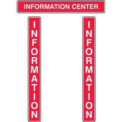Information Center - RAMS Board Title Plaque Set