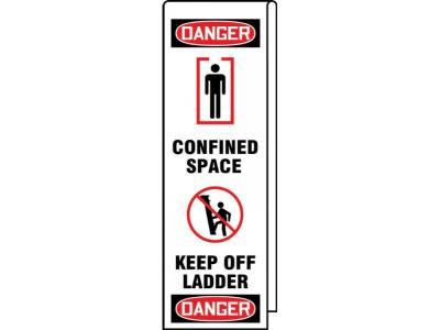 Danger - Confined Space, Keep Off Ladder OSHA Ladder Wrap
