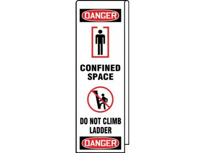 Danger - Confined Space, Do Not Climb Ladder OSHA Ladder Wrap