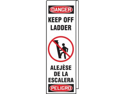 Danger/Peligro - Keep Off Ladder OSHA Ladder Wrap