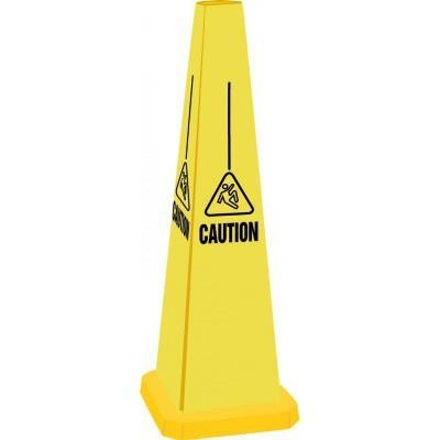 Caution - Wet Floor (Image Only) Quad-Panel Cone