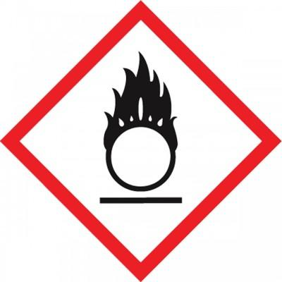 GHS Pictogram Label - Flame Over Circle